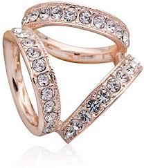 Amazon.com: SHANLIHUA 3 Rings Scarf <b>Ring</b> Diamante <b>Smooth</b> ...
