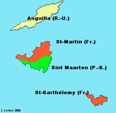 """Résultat de recherche d'images pour """"carte iles saint martin et saint barthélémy"""""""