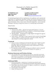 example of abilities example of skills section on a resume resume skills based resume examples chaosz how to write a skills example of personal skills on