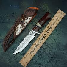 Hand forged Damascus steel straight <b>blade</b> VG10 steel <b>pattern</b> steel ...