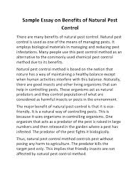 benefit of education essay  wwwgxartorg sample essay on benefits of natural pest controlsample essay on benefits of natural pest control there