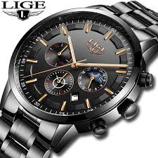 |ONLY $49.99| New <b>LIGE Men's</b> Luxury <b>Watch 2019</b> |Almas ...