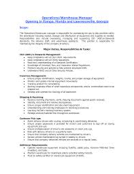 and resume and warehouse warehouse customer service resume