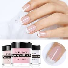 <b>NICOLE DIARY Dip</b> Nail Powder <b>10ml</b> Gradient French Glitter ...