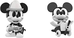 Mini <b>Vinyl</b> Figure: Disney - Black and White <b>Firefighter</b> and Plane ...