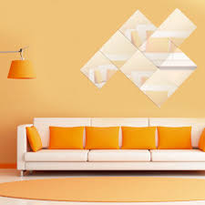 sun wall decal trendy designs: pcs set  cmcm square acrylic mirror wall sticker modern design home room