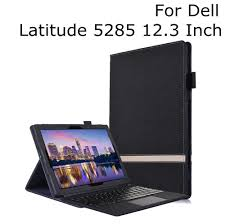 "New Design For Dell Latitude 5285 12.3"" PU Leather Folio Stand ..."