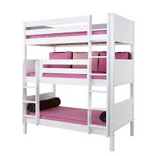 white furniture cool bunk beds: lots of kids white triple bunk