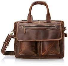 16 inch Vintage Buffalo Leather Messenger Satchel ... - Amazon.com