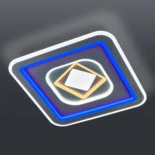 <b>Потолочный светодиодный светильник</b> с цветной подсветкой