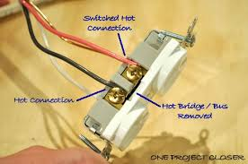 two wire electrical outlet wiring installing a two circuit The Cadet Wiring Diagram Hot One video how to wire a half switched outlet one project closer alternate wiring method Landa Hot Wiring-Diagram
