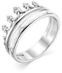 АЛЬКОР <b>Кольцо с 5 фианитами</b> из серебра 01-0685-0ЭМ1-00 ...