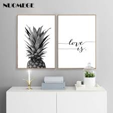 <b>NUOMEGE</b> Pineapple Wall Art Canvas <b>Posters</b> Prints <b>Nordic</b> Love IF ...