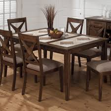expandable dining table ka ta: tricolor tile top dining table with removable leaf