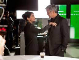 Spot Nespresso 2011 George Clooney con Miss Volluto Nazanin Boniadi