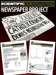 scientific revolution newspaper project revolutions spring this scientific revolution newspaper project is perfect assignment after teaching students about the profound contributions made