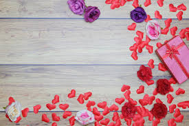 Плоский фон на день святого валентина, любовь, <b>сердечки</b> ...