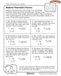 Madame Pomreeda's Powers – Math Worksheets for Kids – JumpStartMadame Pomreeda's Powers - Free Math Worksheet for Kids