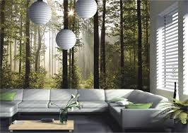zones bedroom wallpaper: wall mural wallpaper nature forest tree light show photo  cm x