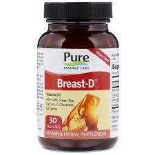 Pure Essence, <b>Breast</b>-<b>D</b>, <b>30 капсул</b> в растительной оболочке ...