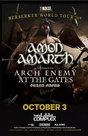 <b>Amon Amarth</b>: Berserker Tour - Thursday October 3rd, 2019 At The ...