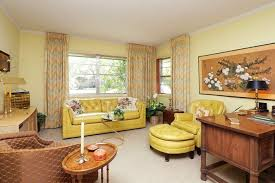 beautiful living room retro interior yellow furniture pale yellow walls beautiful living room furniture