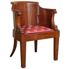 empire solid mahogany desk chair early 19th century antique office chair