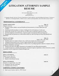 attorney resume senior attorney resume