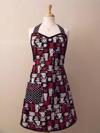 Retro Black Red <b>Coffee</b> Cups with <b>Polka Dot</b> apron
