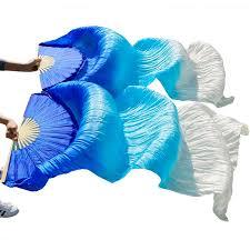 <b>high quality 100</b>% Chinese <b>silk</b> veils dance fans 1Pair belly dance ...
