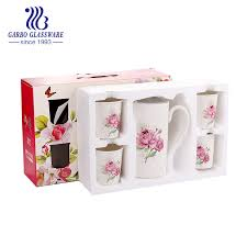 China <b>Wholesale 5PCS</b> Porcelain Drinking <b>Set</b> Tableware Ceramic ...
