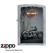 <b>Зажигалка</b> широкая <b>Zippo</b> Classic <b>Harley</b>-<b>Davidson</b> Street Chrome ...