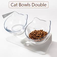 Non-<b>slip Cat Bowl Double</b> PetBowl for Cat Food and Water Feeder ...