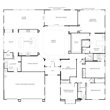 Bedroom Floor Plans Houses Flooring Picture Ideas   FlooriationsBedroom House Plans With Single Story Floor Plans One Story  Bedroom Floor Plans