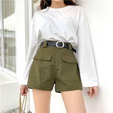<b>S</b>-<b>5XL</b> Plus Size <b>Short</b> Cargo <b>Pants Women Korean</b> High Waist ...