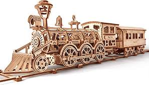Wood Trick Wooden Toy Train Set with Railway - 34x7 ... - Amazon.com