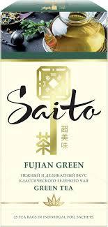<b>Чай</b> в пакетиках <b>Saito</b> Fujian <b>Green</b>, <b>зеленый</b>, 25 пакетиков ...