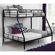 awesome bunk beds for teenagers bedroom design with black iron bun bed and ladder also white bedroom furniture guys design