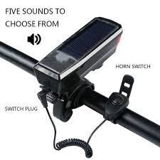 <b>Solar Power LED Light</b> Waterproof USB Rechargeable Front <b>Cycling</b> ...