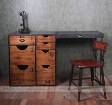 american country pine wood exports europe and america industrial personality iron wood furniture with a desk american retro style industrial furniture desk