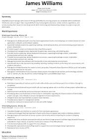 project manager resume sample com