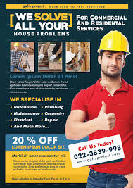 home repair flyer template by adimasen graphicriver preview image set preview image set house repair rgb jpg