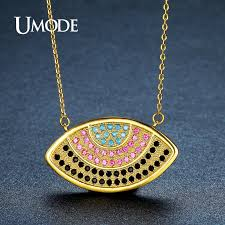 <b>UMODE</b> Vintage <b>Colorful Crystal</b> Eye Pendant Necklaces for ...