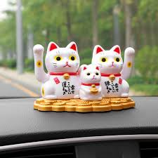 Car Ornaments ABS <b>Lucky Cat</b> Automobile Interior Dashboard ...
