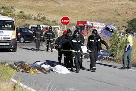 Resultado de imagen de accidente de soria donde mueren 9 personan