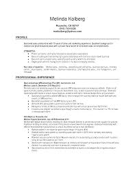 registered representative resume sample
