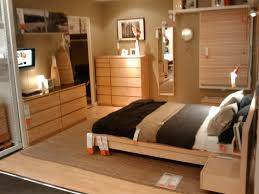 bedroom furniture ikea decoration home ideas: ikea malm furniture natural wood small bedroom