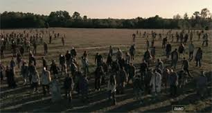 Image result for picture of a walkers wandering aimlessly  in walking dead