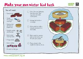 my wild life set them up a bird bath too even in winter the birds like to keep clean you can help them out and make a