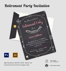 retirement invitation psd vector eps ai elegant retirement party invitation template